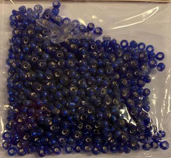 Glasperler / Kongeblå / 2,5 mm - 20 g / Rocailles
