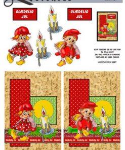 Jul / Nissepige & dreng med julelys / Quickies