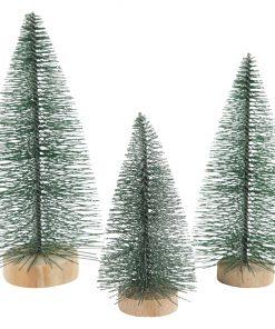 Grantræer / H: 10 + 13 +14 cm / 3 Stk