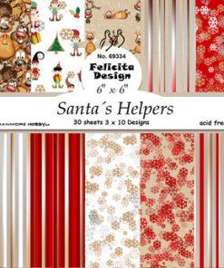 Karton 15 x 15 cm / Santa's helpers / Felicita Design