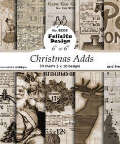 Karton 15 x 15 cm / Christmas adds / Felicita Design