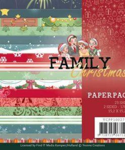 Karton 15 x 15 cm / Family christmas / Yvonne Design