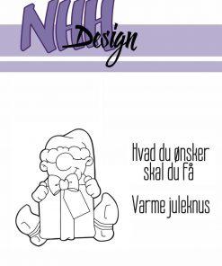 Stempel / Jule alf med gave / NHH Design