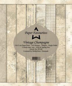 Karton / Vintage Champagne / Paper favourites