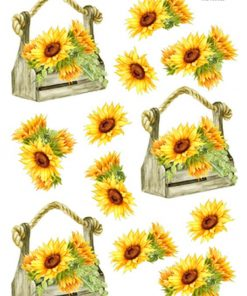 Blomster / Solsikke i trækasse / Hm Easy