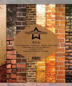 Karton 15x15 cm / Mursten / Paper favourites
