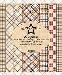 Karton 15x15 cm / Plaid pattern / Paper favourites