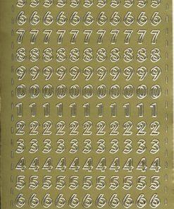 Stickers / Guld tal