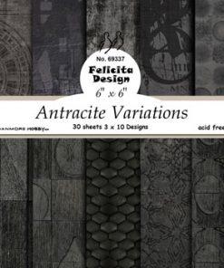 Karton 15 x 15 cm / Antracite / Felicita design