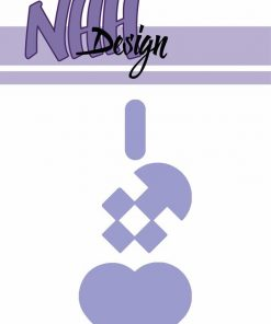 Dies / Stort flettet julehjerte / NHH Design