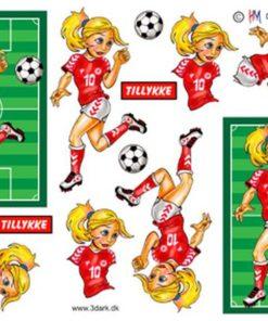 Fodboldpige der dribler / Hm Design