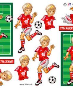 Fodbolddreng der dribler / Hm Design