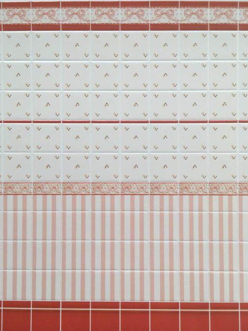 Tapet med fliser 27,5 x 16,2 cm / Dukkehus