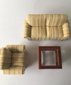 Sofa, lænestol & Sofabord / Dukkehus