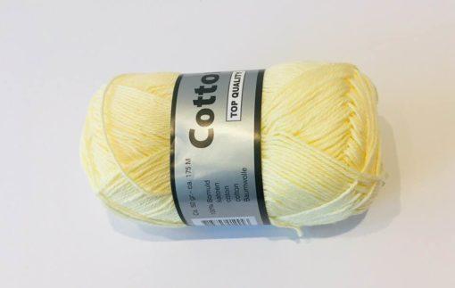 Bomuldsgarn, Cotton 8/4 / Lys gul