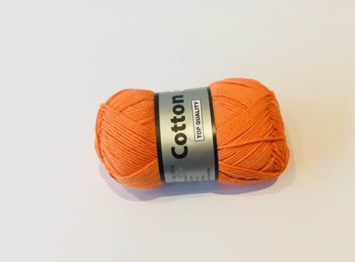 Bomuldsgarn, Cotton 8/4 / Orange