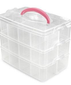 Plast æske / Box med 3 bokse