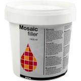 Mosaik-filler, hvid, 1000 ml