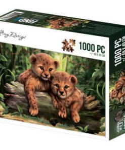 Puzzlespil / Vilde dyr / 1000 brikker
