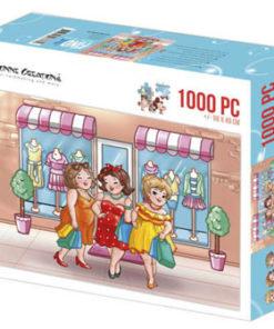 Puzzlespil / Piger shopper / 1000 brikker
