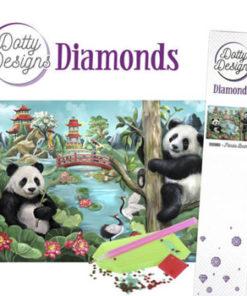 Diamant sæt / Pandabjørne / Dotty Design