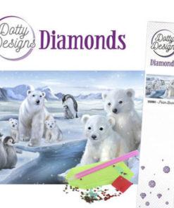 Diamant sæt / Isbjørne / Dotty design