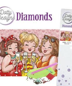 Diamant sæt /Piger der skåler / Dotty Design