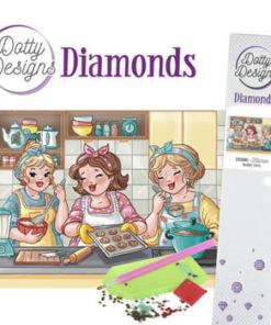Diamant sæt / Piger i køkken / Dotty design