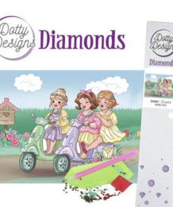 Diamant sæt / Piger på tur / Dotty Design