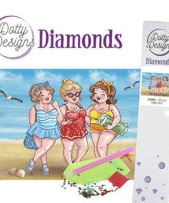 Diamant sæt / Piger på strand / Dotty Design