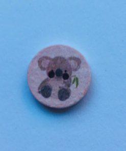 Knap 2 hul / 18 mm / Koala Lyserød