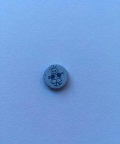 Knap 2 hul / 15 mm / Lyseblå dreng