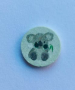 Knap 2 hul / 18 mm / Koala lysegrøn