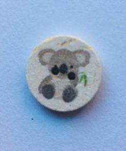 Knap 2 hul / 18 mm / Koala natur