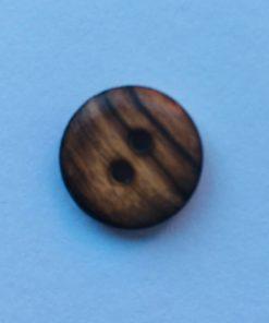Knap 2 hul / 24 mm / træ, meleret