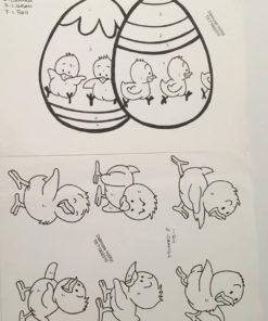 Påskeæg & Kyllinger / lap på lap, U.Hjælpeark