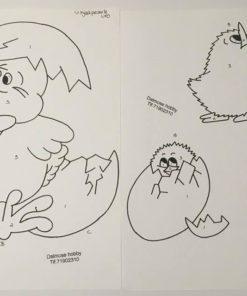 Påskekyllinger / Lap på lap, U.Hjælpeark