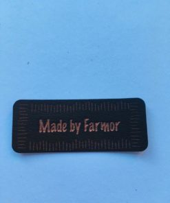 Labels / Made by farmor, brun