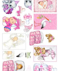 Børn / babypige små motiver / Dan-Design