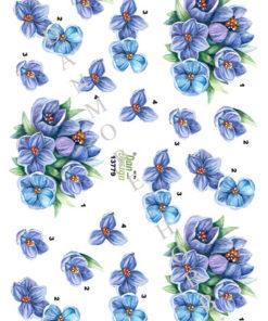 Blomster / Blå blomster / Dan-Design