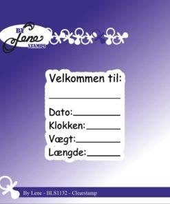 Stempel / Dansk tekst / By Lene