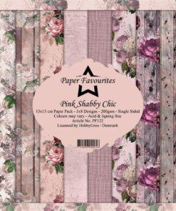 Karton / Pink chabby / 15 x 15 cm