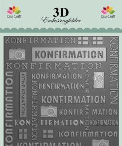 Embossingfolder / Konfirmation / Dixi Craft
