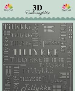 Embossingfolder / Tillykke / Dixi Craft