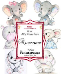 Toppers / Søde dyr / Felicita Design