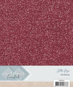 Glitter karton / Bordeaux / A4