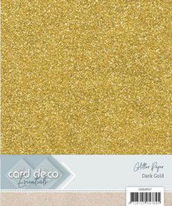 Glitter karton / Mørk guld / a4