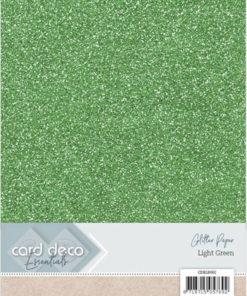 Glitter karton / Lys grøn / A4
