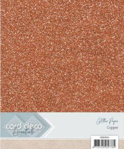Glitter karton / Kobber / A4