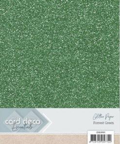 Glitter karton / Forårs grøn / A4